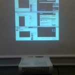 Jan Robert Leegte, Study for Black Square embedded in Social Media, 2013.  projections of photoshop study